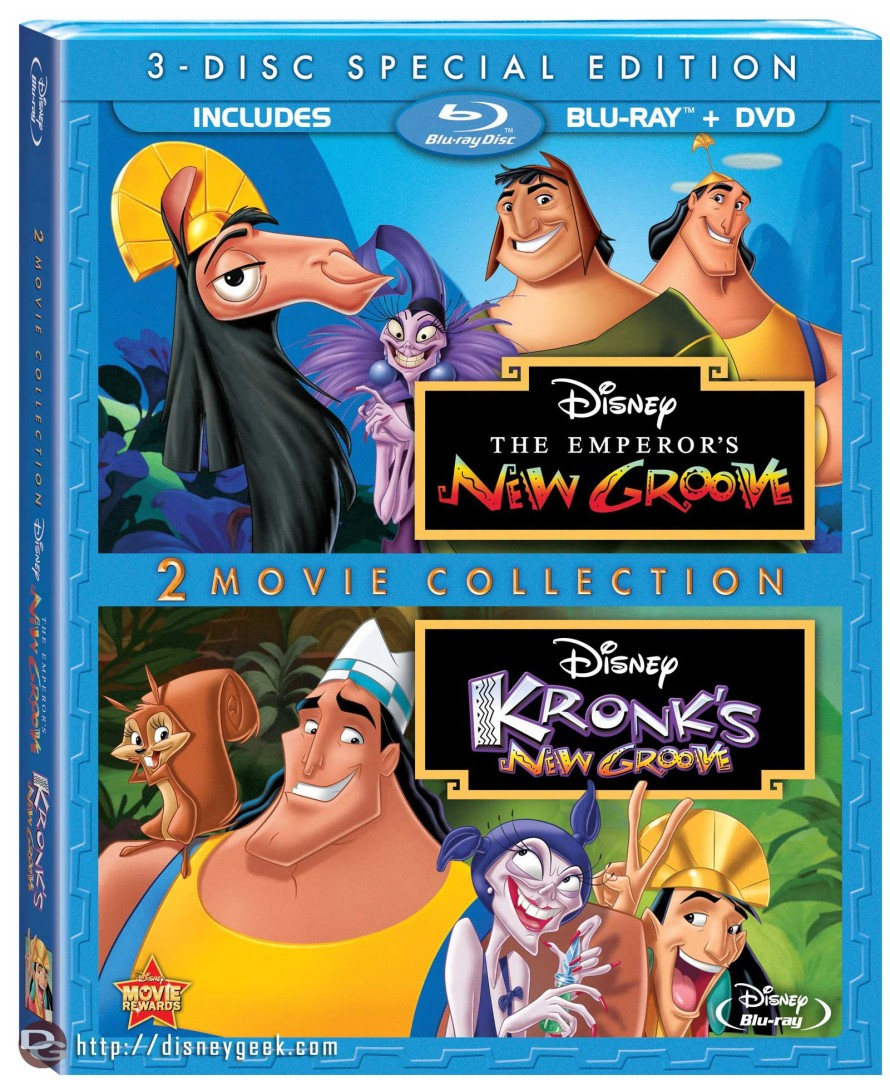 "Home Video Release – ""The Emperor's New Groove"" and ""Kronk's New Groove"" – June 11, 2013"