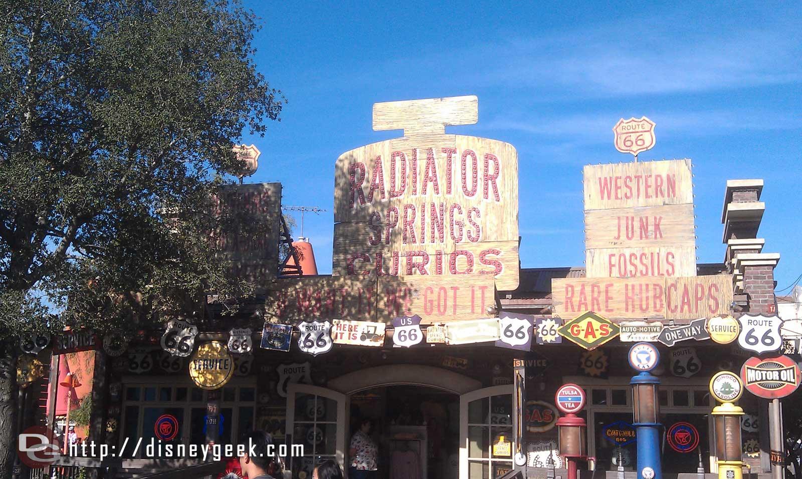 Radiator Springs Curios #CarsLand