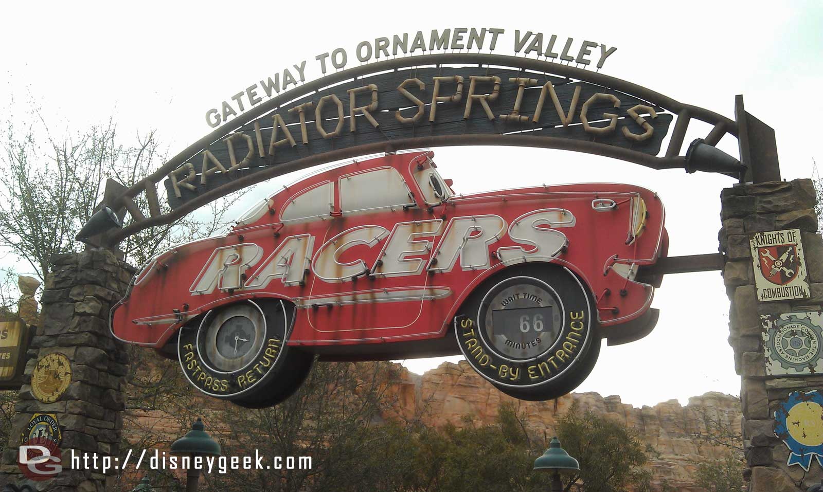 Radiator Springs Racers posted wait of 66 mintues…