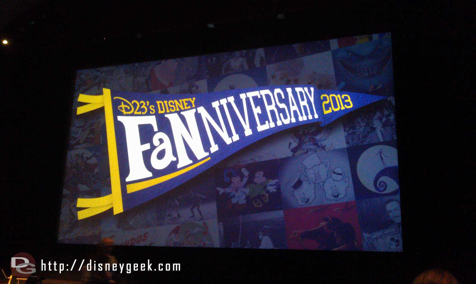 Ready for the D23 #Fanniversary to start (no photography allowed during presentations)