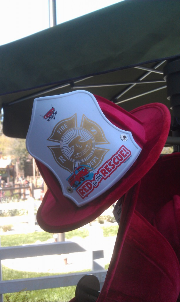 Red to the Rescue hats in #CarsLand at Sarges