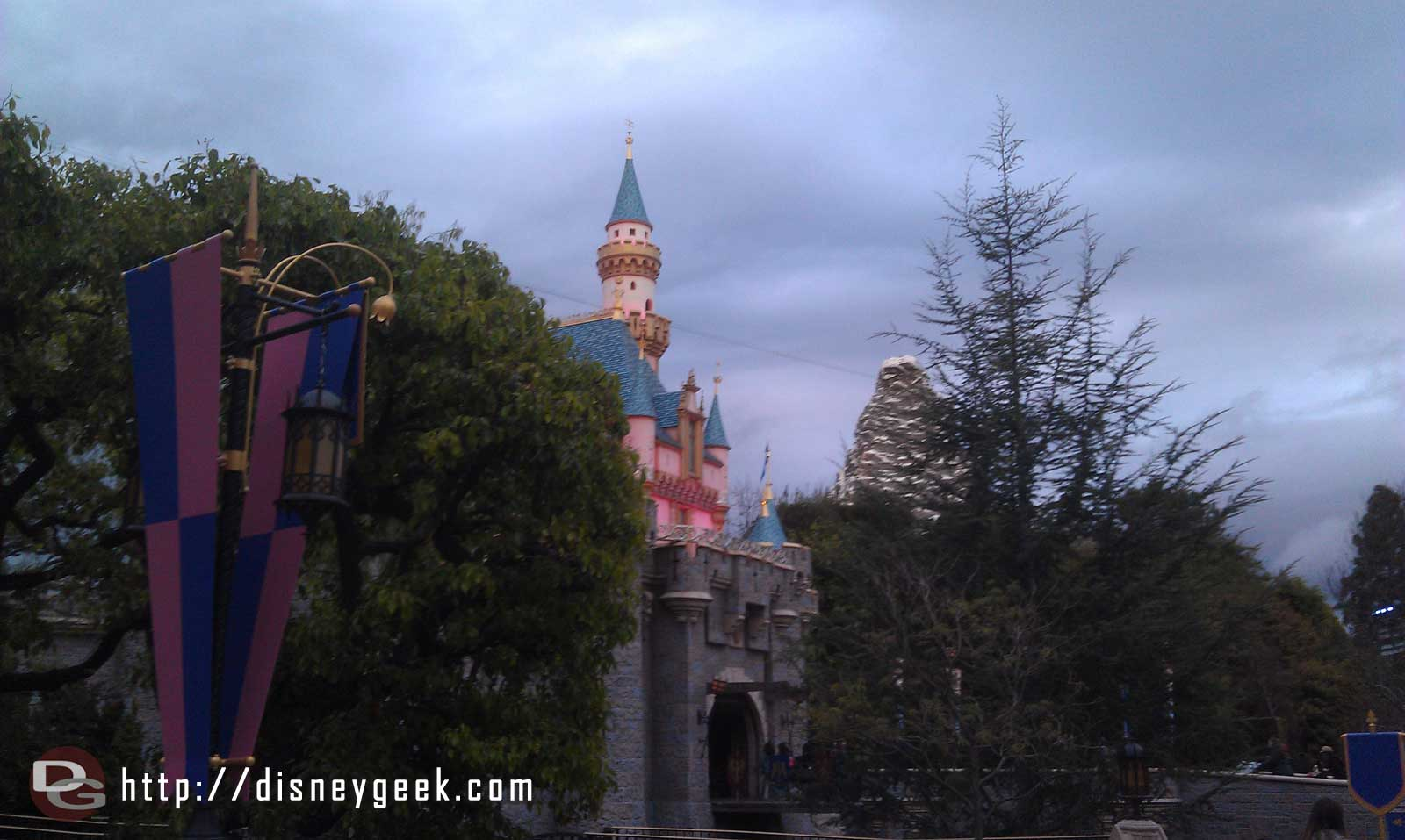 Sleeping Beauty Castle & Matterhorn from Fantasty Faire
