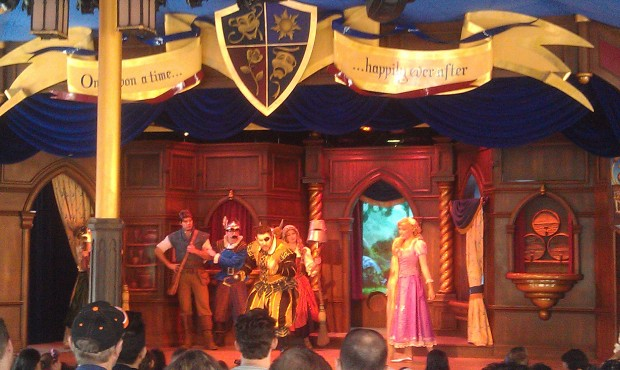 Stopped by the Royal Theatre in Fantasy Faire to see Tangled
