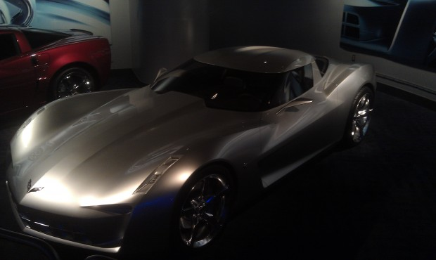 A Vette on the way out.