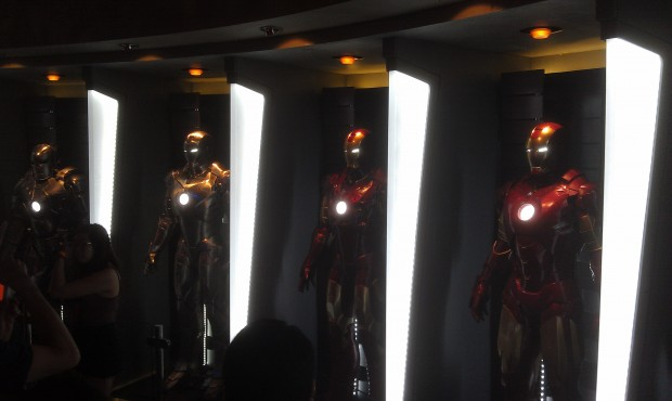 A couple pics from the Iron Man exhibit, better ones in the full update tomorrow