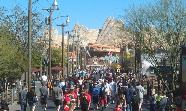 A look down Route 66 this afternoon in #CarsLand