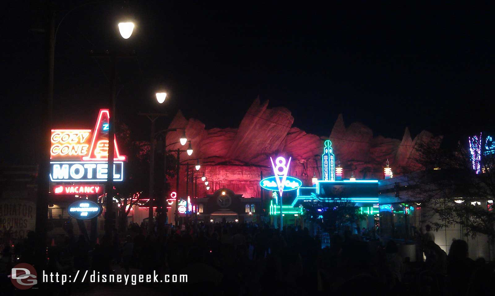 A look down Route 66 this evening in #CarsLand