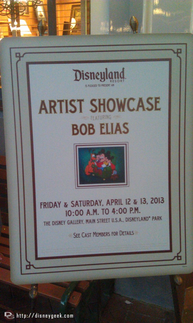 An arrist showcase in the Disney Gallery, no pics allowed so you have to visit to.see it.