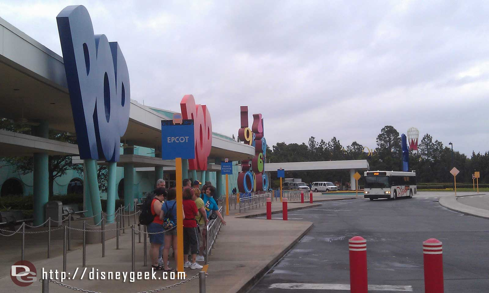 Another cloudy and cool morning here at Pop Century