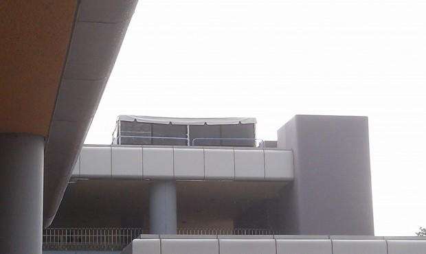 Anyone know what the tent housing projectors atop the Epcot Monorail station is for?