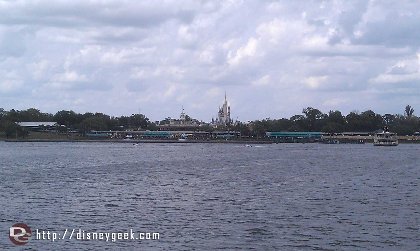 Approaching tbe Magic Kingdom by ferry