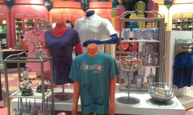 Art of Animation Merchandise in their giftshop.  I took the long way back to Pop Century.