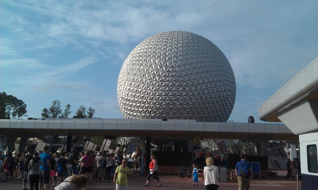 At Epcot to start my day
