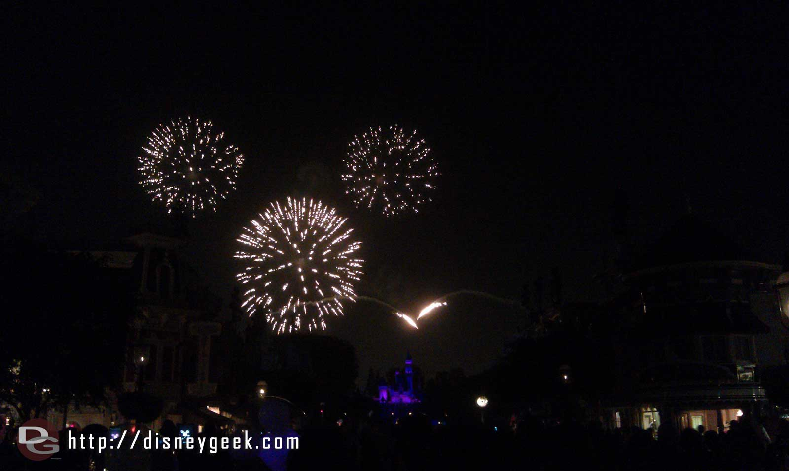 Closing out the evening with Remember Dreams Come True fireworks