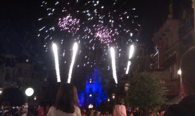 Closing out the evening with a partially obstructed view of Wishes