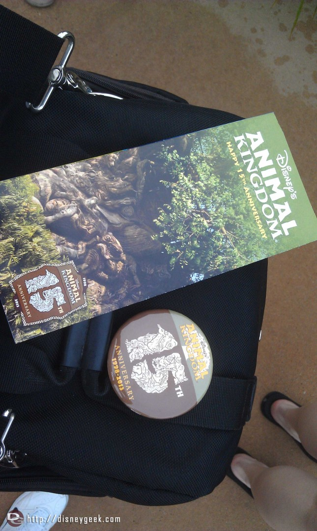 Commemorative maps and buttons today #DAK15