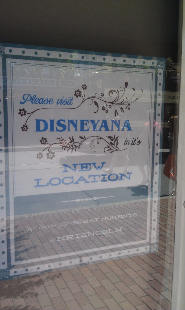 Disneyana has closed since my last visit