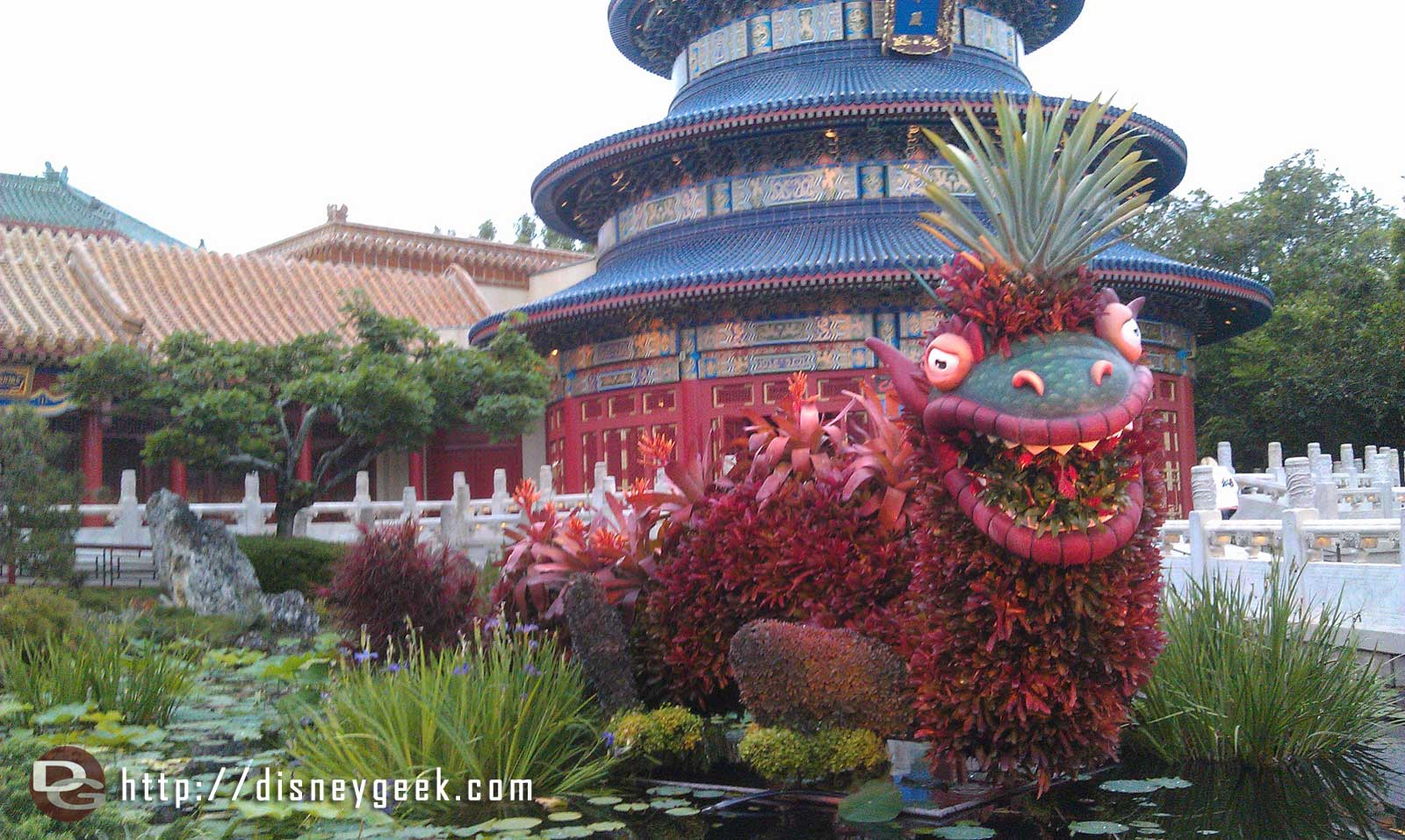 Dragon topiary in China