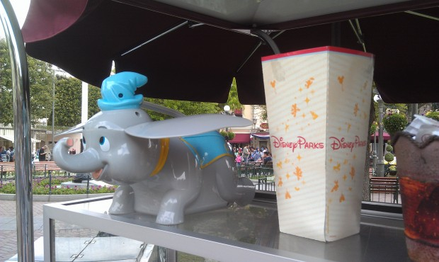 Dumbo popcorn buckets have arrived at #Disneyland ($12)