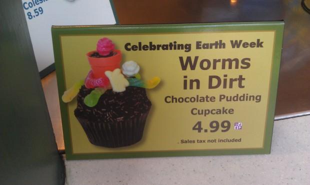 Earth week cupcakes