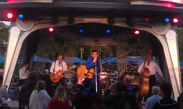 Elvis, Scot Bruce, is at Tomorrowland Terrace tonight.