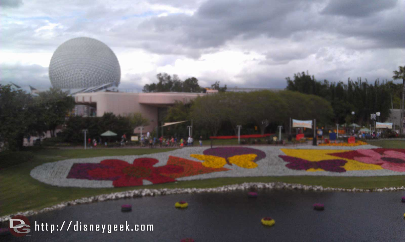 Epcot International Flower and Garden Festival flower beds from Monorail