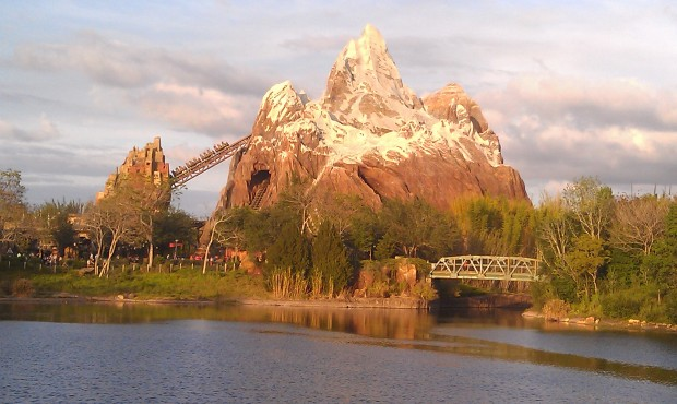 Expedition Everest from the Flame Tree BBQ seating area