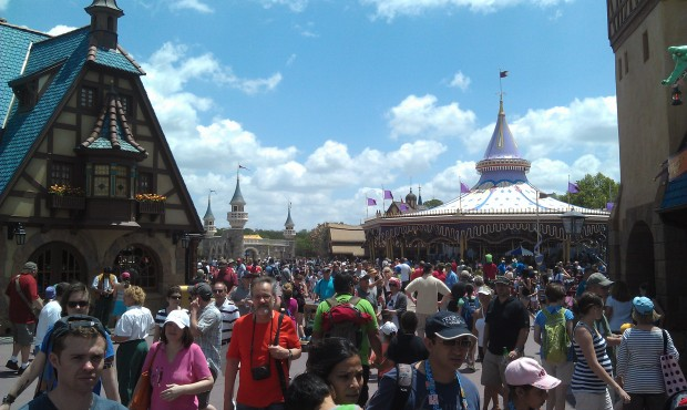 Fantasyland was crowded.. why early afternoon on a random Tuesday?