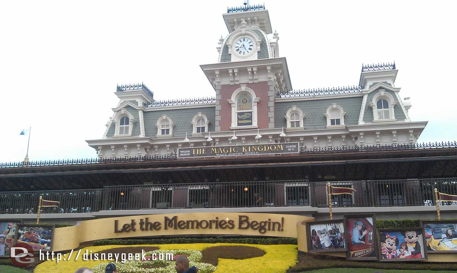 """First stop today the Magic Kingdom, thanks to """"good"""" bus luck have a half hour to wait till opening"""