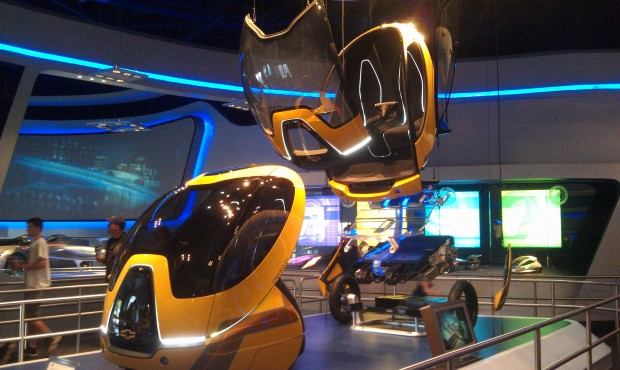 First up a couple rides through Test Track