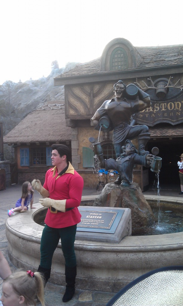 Gaston out in front of his Tavern
