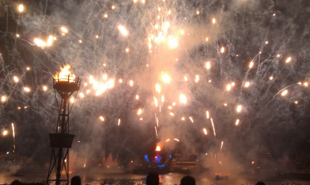 Illuminations Finale - I broke my own rule and forgot to check the wind,  ended up with alot of smoke and ash