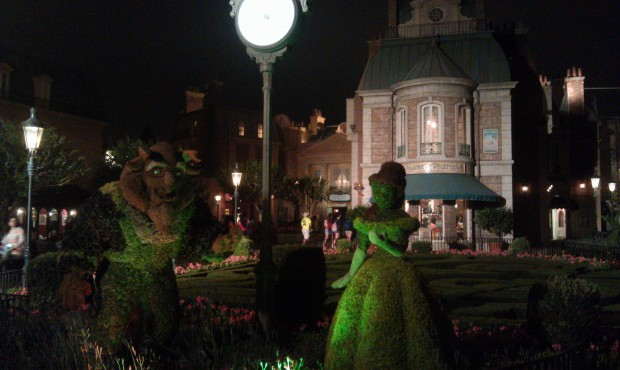 In case you did not get enough of the topiaries today, Beauty and the Beast in France
