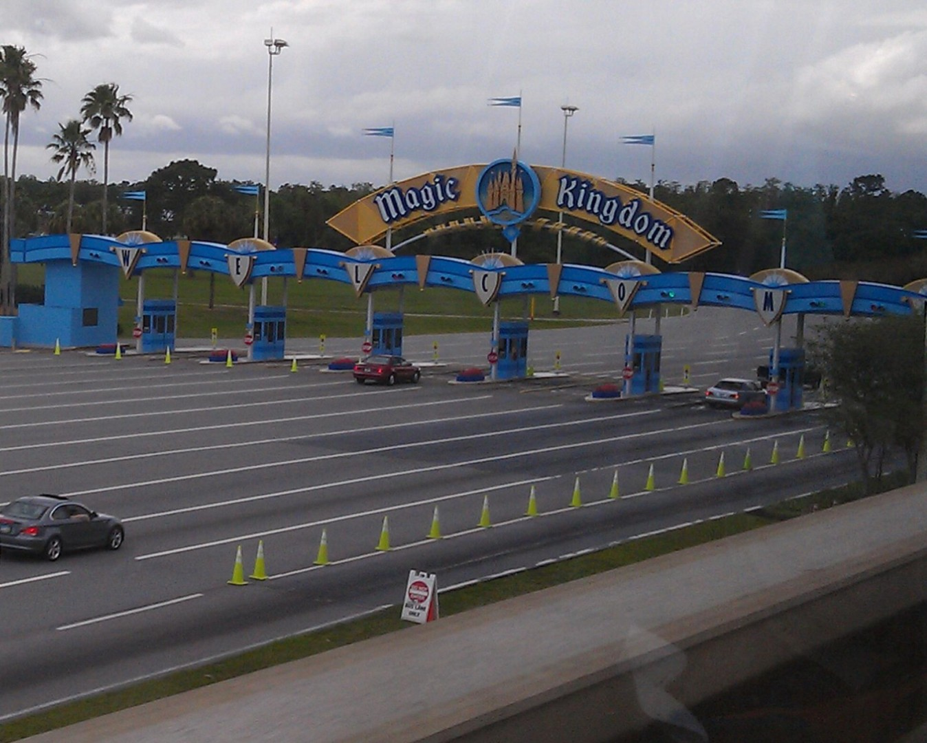 Magic Kingdom toll plaza
