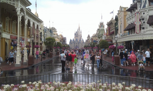 Main Street this soggy afternoon