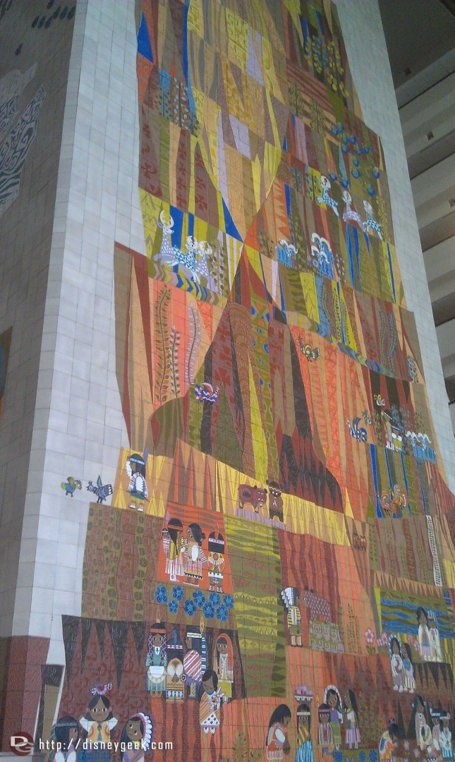 Mary Blair art in the Grand Canyon Concourse at the Contemporary