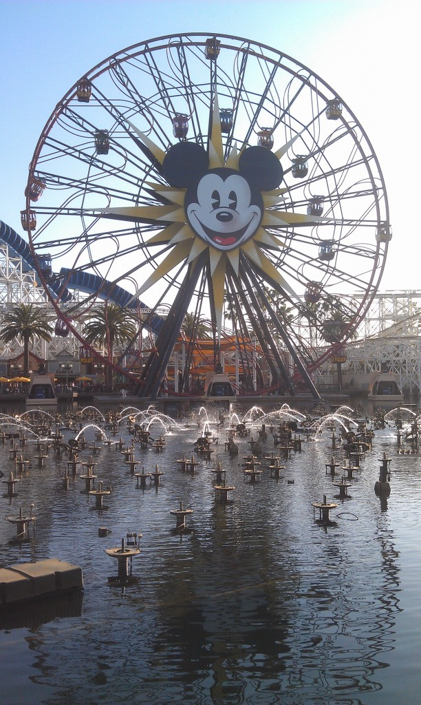 Mickeys Fun Wheel with WoC fountains