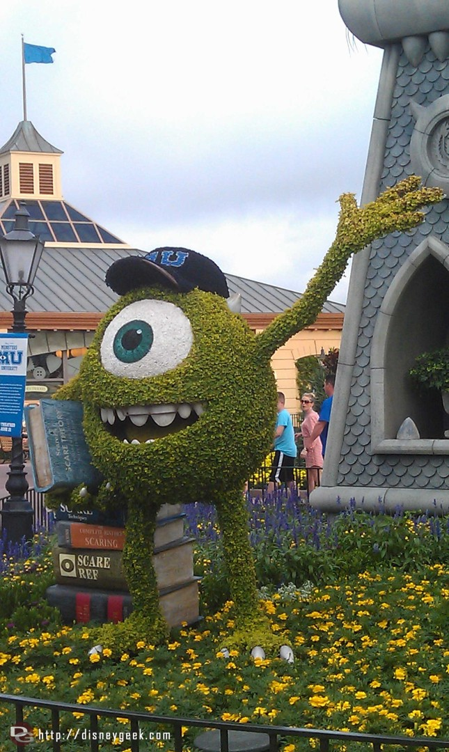 Mike topiary from Monsters University