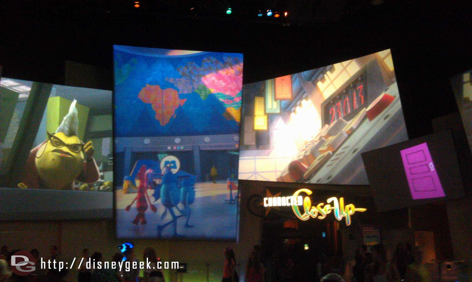 Monsters Inc in the Animation Lobby (this is old but just thought my timing was interesting)