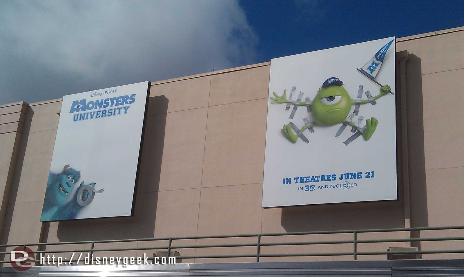 Monsters University Billboards in the Animation Courtyard