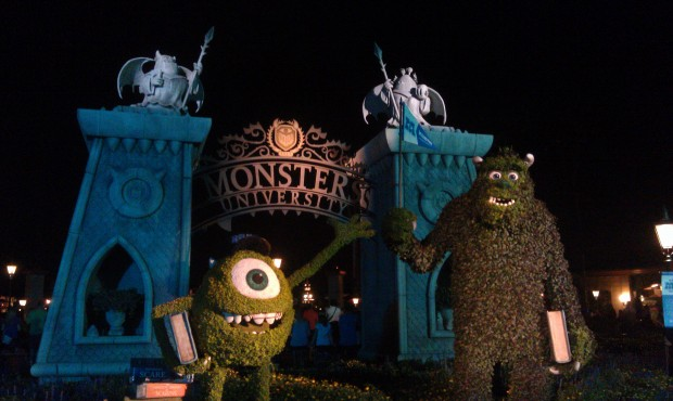 Monsters University topiaries