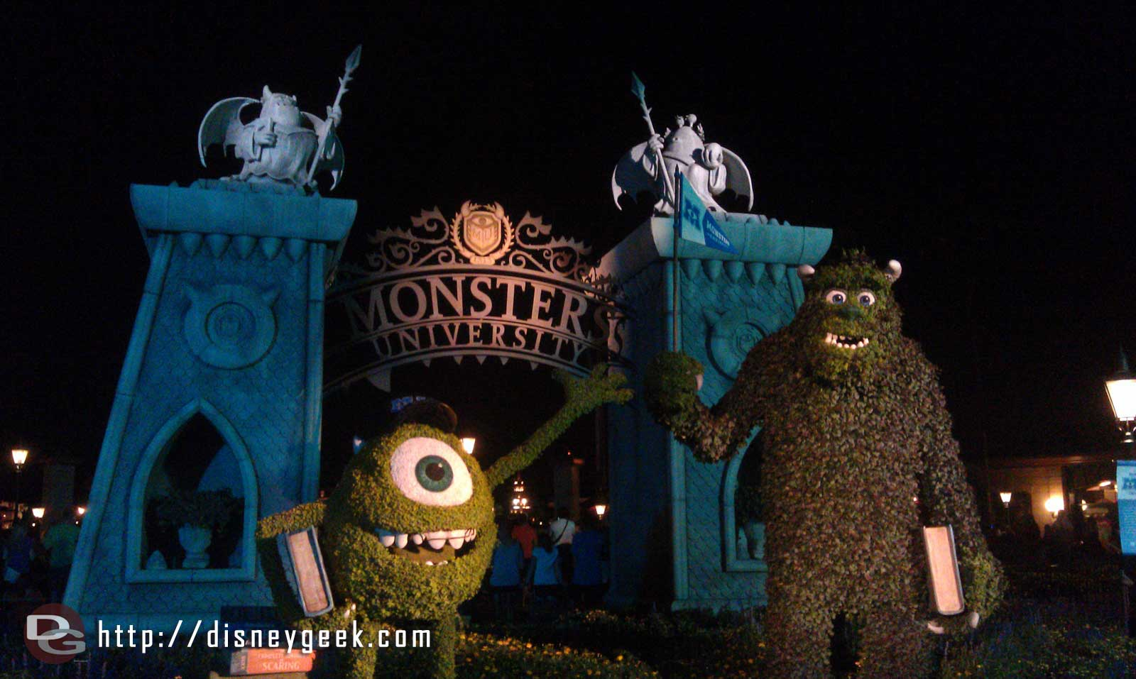 Monsters University topiaries