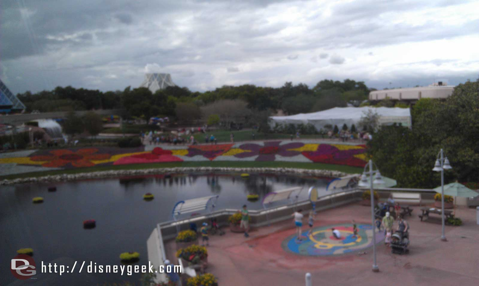 More Epcot flower beds from the Monorail