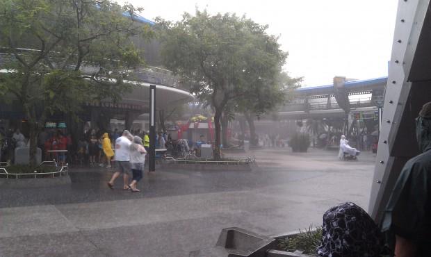 More rain in Tomorrowland