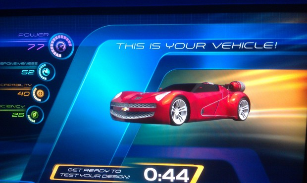 My car design for Test Track, did not score that well, 195.  The high score was 235.