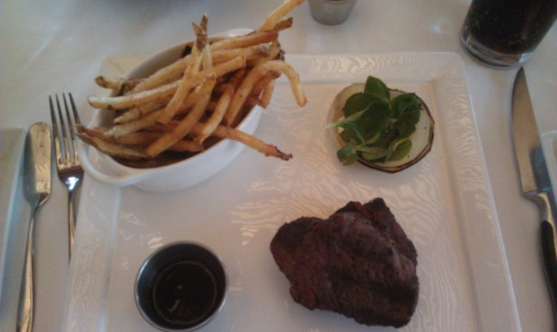 My meal at Yachtsman Steakhouse this evening