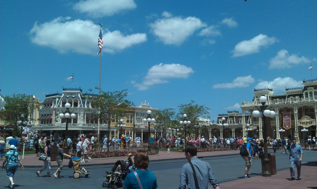 One last look at Town Square before heading back to catch the Magical Express