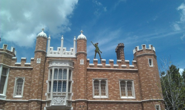Peter Pan watching over the United Kingdom