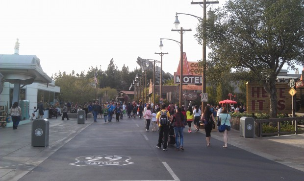 Route 66 this evening in #CarsLand