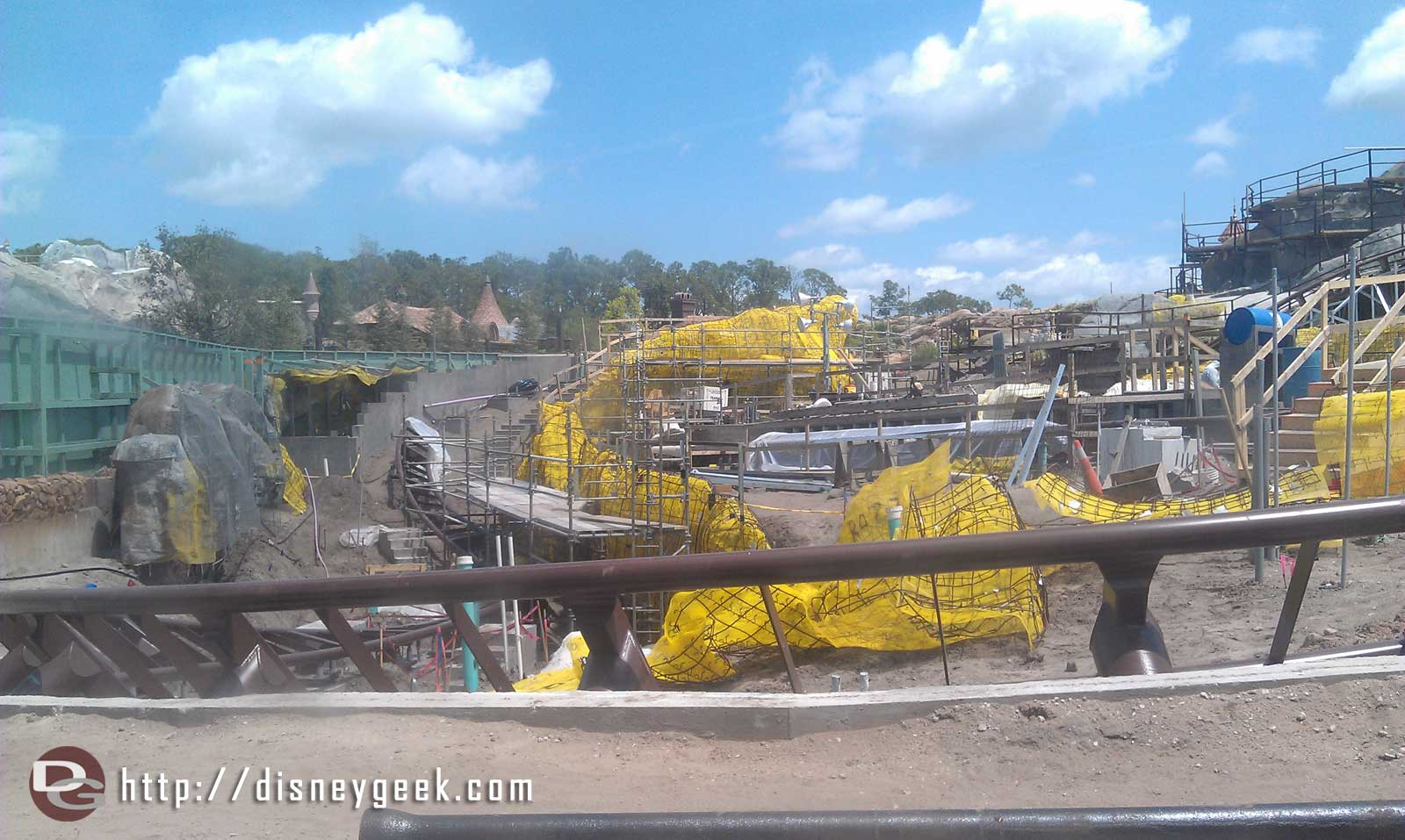 Seven Dwarfs Mine Coaster is moving along, opening in 2014